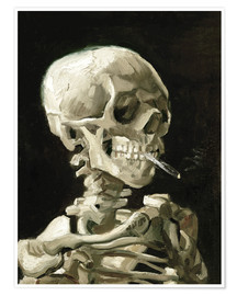 Juliste  Skeleton with a burning cigarette - Vincent van Gogh