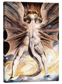 Canvas-taulu  The great red dragon and the woman with the sun - William Blake