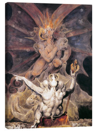 Canvas-taulu  the number of the beast is 666 - William Blake