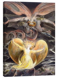 Canvas-taulu  The great red dragon and the woman clothed with sun - William Blake