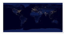 Juliste  Earth at night - NASA