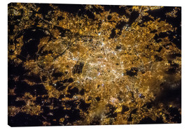 Canvas-taulu  Paris by night from above - NASA