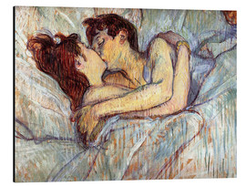 Alumiinitaulu  In Bed, The Kiss - Henri de Toulouse-Lautrec