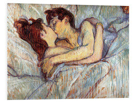 PVC-taulu  In Bed, The Kiss - Henri de Toulouse-Lautrec