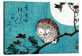 Canvas-taulu  Sleeping owl full moon - Utagawa Hiroshige