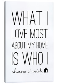 Canvas-taulu  What I love most - m.belle