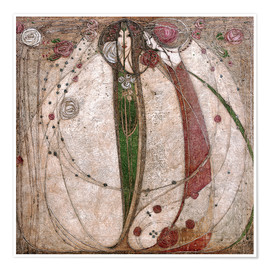 Juliste  The White Rose And The Red Rose - Margaret MacDonald Mackintosh