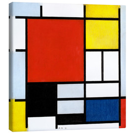 Canvas-taulu  Composition with red, yellow, blue and black - Piet Mondriaan