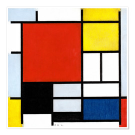 Juliste  Composition with red, yellow, blue and black - Piet Mondriaan