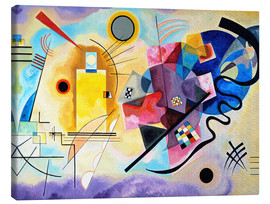 Canvas-taulu  Yellow, red and blue - Wassily Kandinsky
