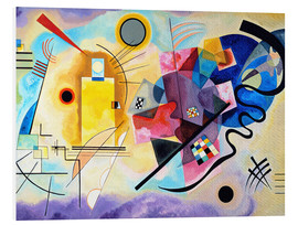 PVC-taulu  Yellow, red and blue - Wassily Kandinsky