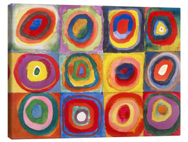 Canvas-taulu  Colour study - squares and concentric rings - Wassily Kandinsky