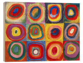 Puutaulu  Colour study - squares and concentric rings - Wassily Kandinsky