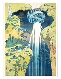 Juliste  Waterfall of Amida at the Kiso Street - Katsushika Hokusai