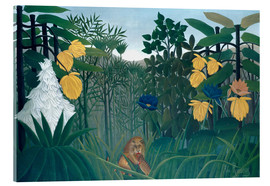 Akryylilasitaulu  The meal of the lion - Henri Rousseau