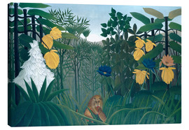 Canvas-taulu  The meal of the lion - Henri Rousseau