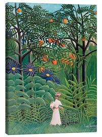 Canvas-taulu  Woman in an exotic forest - Henri Rousseau
