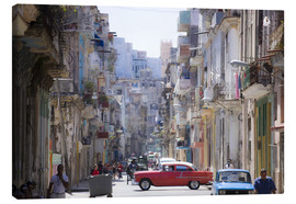 Canvas-taulu  In the streets of Havana - Lee Frost