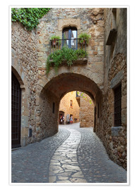 Juliste Alley in Pals, Catalonia