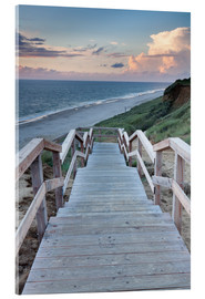 Akryylilasitaulu  Stairs down to the beach, Sylt - Markus Lange