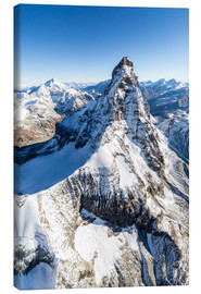 Canvas-taulu  The unique shape of the Matterhorn - Roberto Sysa Moiola