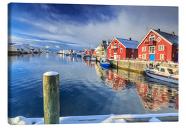 Canvas-taulu  colorful fisherman houses in Norway - Roberto Sysa Moiola