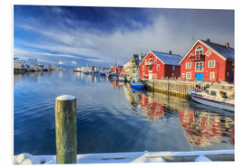 PVC-taulu  colorful fisherman houses in Norway - Roberto Sysa Moiola