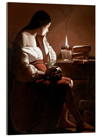Akryylilasitaulu  The Magdalen with the Smoking Flame - Georges de la Tour
