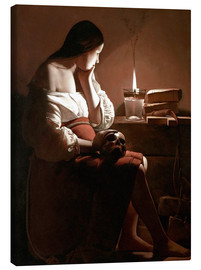 Canvas-taulu  The Magdalen with the Smoking Flame - Georges de la Tour