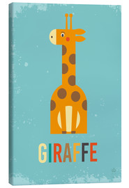 Canvas-taulu  ABC giraffe - Petit Griffin