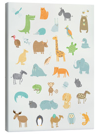 Canvas-taulu  All my zoo animals - Petit Griffin