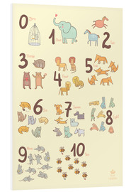 PVC-taulu  Number of animals - Petit Griffin