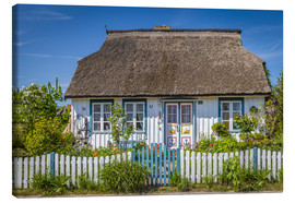 Canvas-taulu  Thatched cottage on the Baltic Sea - Christian Müringer