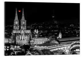 Akryylilasitaulu  Blutmond over the Cologne Cathedral - rclassen