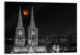 Akryylilasitaulu  Blood Red Moon Cologne Cathedral - rclassen