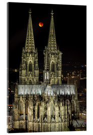 Akryylilasitaulu  Blood moon shines over Cologne Cathedral - rclassen