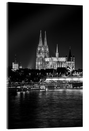 Akryylilasitaulu  Cologne Cathedral at night - rclassen