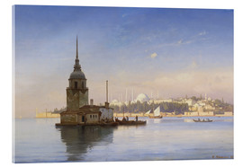 Akryylilasitaulu  The Maiden's Tower (Maiden Tower) with Istanbul in the background - Carl Neumann