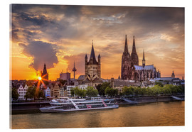 Akryylilasitaulu  Cologne Cathedral and Great St Martin - Jens Korte
