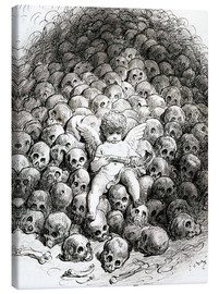 Canvas-taulu  Love reflects on Death - Gustave Doré
