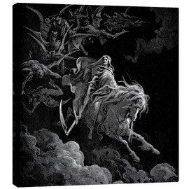 Canvas-taulu  Death on a pale horse - Gustave Doré