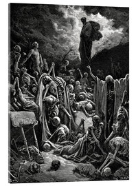 Akryylilasitaulu  The Vision of The Valley of The Dry Bones - Gustave Doré