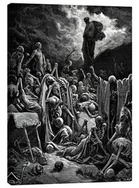 Canvas-taulu  The Vision of The Valley of The Dry Bones - Gustave Doré