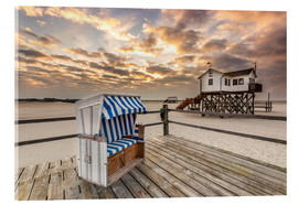 Akryylilasitaulu  In the morning the North Sea beach of Sankt Peter Ording - Dennis Stracke