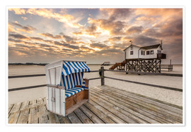 Juliste  In the morning the North Sea beach of Sankt Peter Ording - Dennis Stracke