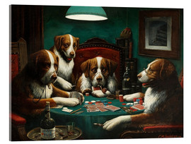 Akryylilasitaulu  The poker game - Cassius Marcellus Coolidge