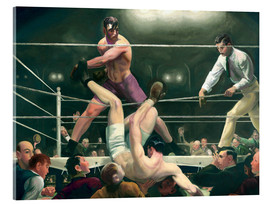 Akryylilasitaulu  Dempsey and Firpo - George Wesley Bellows