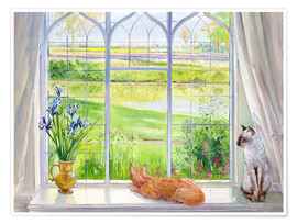 Juliste Cats at the window