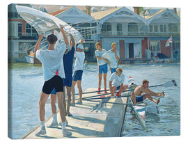 Canvas-taulu  Preparation for rowing - Timothy Easton