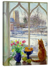 Canvas-taulu  Snow Shadows and Cat - Timothy Easton